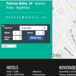 Hotel website online booking system